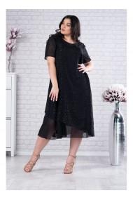 Rochie negra din voal Alisa X11827N