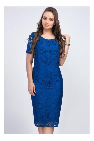 Rochie albastru royal din dantela - Iulia 81191ABRR