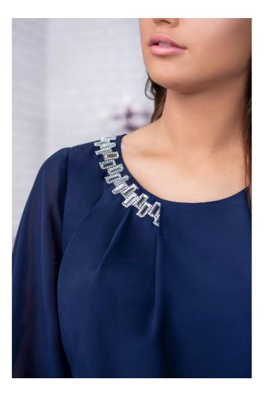 Rochie turcoaz din voal cu accesoriu Robin 91495TQ