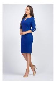 Rochie albastru royal cu perle pe maneca - Laurentia X81118ABR