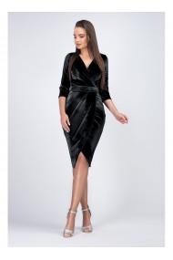 Rochie eleganta din catifea neagra Lory B11924N