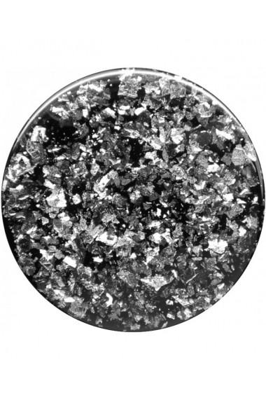 PopGrip Foil Conffeti Silver accesoriu de telefon original PopSockets Negru