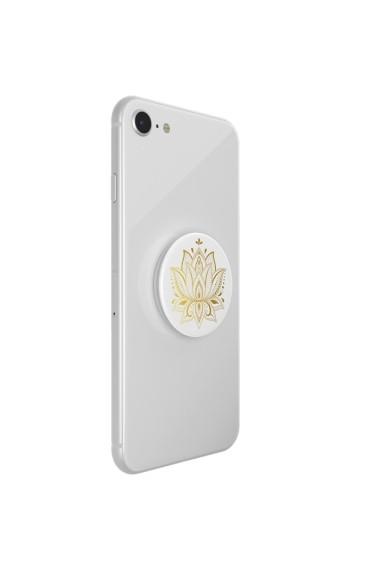 PopGrip Golden Prana Accesoriu telefon PopSockets Original Alb