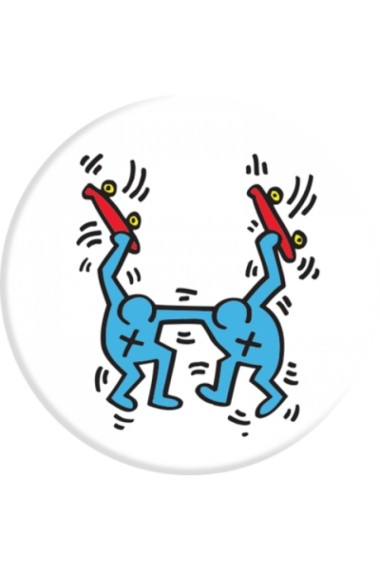Popsockets BROS by Keith Haring Accesoriu telefon Alb