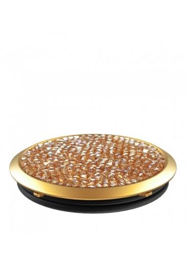 Popsockets Golden Shadow Crystal Swarovski original accesoriu de telefon Auriu