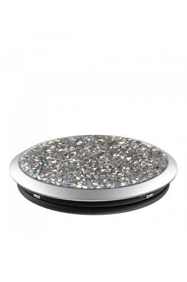 Popsockets Silver Crystal Swarovski original accesoriu de telefon Argintiu