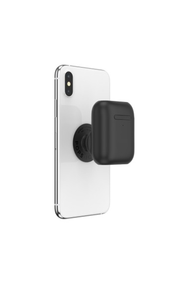 POPGRIP AirPods Holder Black Accesoriu de telefon original PopSockets