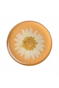 POPTOP Press Flower Daisy White Accesoriu de telefon PopSockets original Orange