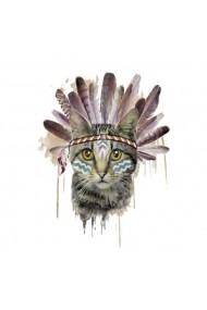 Tatuaj temporar Indie Cat Multicolor14.8x21 pentru piele