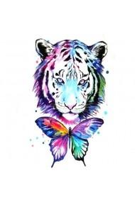 Tatuaj temporar Leopard Dream Culoare Negru 6x10.5cm pentru piele