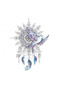 Tatuaj temporar Peace Catcher dimensiune medie 15/21 cm Look de Festival
