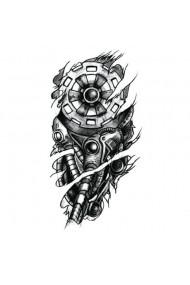 Tatuaj temporar Robot View dimensiune medie 15/21 cm Look de Festival