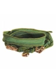 Bratara KOGAYON din matase si bijuterii cu semnificatie 005CGP Verde