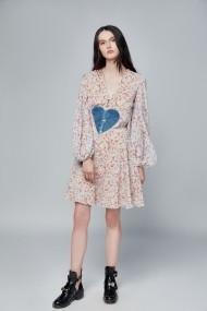 Rochie de zi FPS cu inima albastra Multicolor
