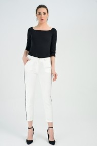 Pantaloni Sense Pnt19011 Alb