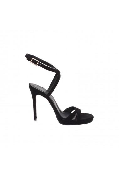 Sandale cu toc Verogia Electra Negre