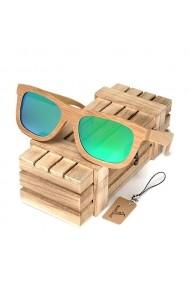 Ochelari de soare din lemn Bobo Bird BG003 lentila verde