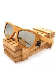Ochelari de soare din lemn Bobo Bird BG003 lentila argintie