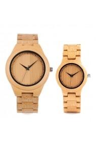 Set ceasuri din lemn Bobo Bird pentru cupluri curea din lemn