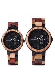 Set ceasuri din lemn Bobo Bird pentru cupluri P14