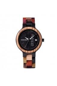 Ceas din lemn Bobo Bird cu curea din lemn P14-4
