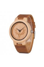 Ceas din lemn Bobo Bird cu curea din piele D15