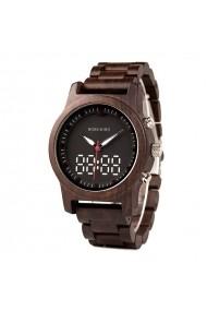 Ceas din lemn Bobo Bird led R02