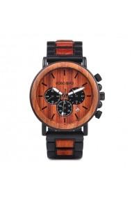 Ceas din lemn Bobo Bird cu curea din lemn P09-3