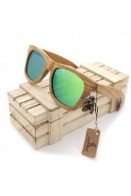 Ochelari de soare din lemn Bobo Bird AG007 lentila verde