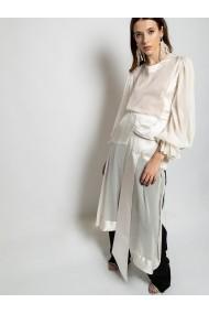 Camasa tip rochie Marami Asymmetric Shirt Dress Alba