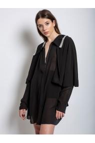 Cardigan Marami Shine Away Silk Muslin Cardigan Dress Negru