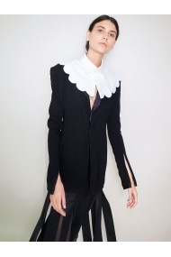 Fusta lunga Marami Endless Ribbons Skirt Alb si Negru