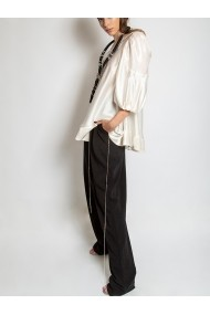 Pantaloni Marami Crystal Embellished Viscose Trousers Negri