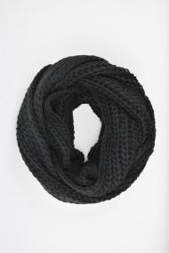 Fular tricotat ELES & CO ASTN010 Negru