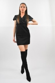 Rochie cu paiete ELES & CO VNS001 Neagra