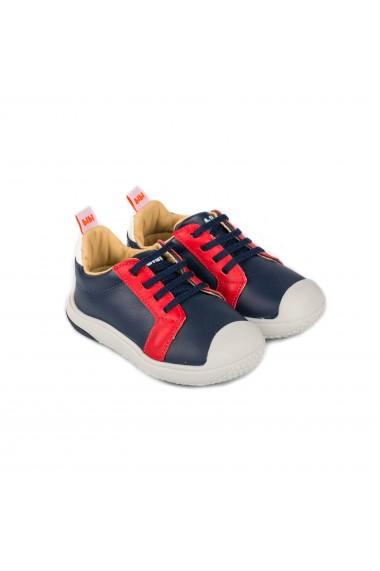 Pantofi Baieti Bibi Prewalker Naval cu Siret Elastic