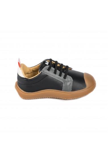 Pantofi Baieti Bibi Prewalker Grafit cu Siret Elastic
