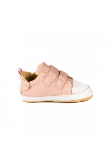 Pantofi Fetite Bibi Afeto Joy Camelia cu Velcro