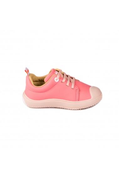 Pantofi Fete Bibi Prewalker Cherry cu Siret Elastic