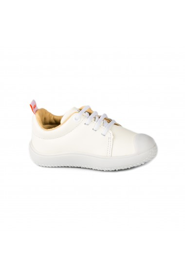 Pantofi Unisex Bibi Prewalker Albi cu Siret Elastic