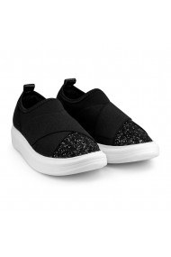 Pantofi Fete Bibi Glam Black Glitter