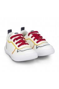 Pantofi Baieti BIBI Agility Mini Albi/Rosu