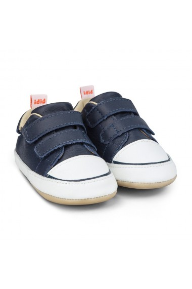 Pantofi Baietei Bibi Afeto Joy Naval/Alb cu Velcro