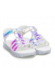 Sandale Fete BIBI Flat Form Holografic Glitter