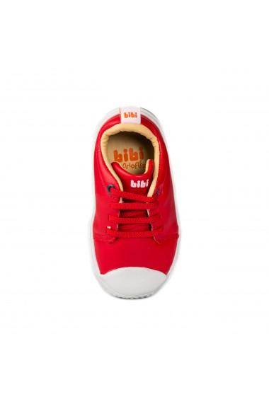 Pantofi Unisex Bibi Prewalker Rosii cu Siret Elastic