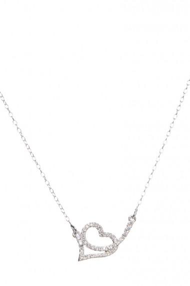 Colier Jolenttine JOCO0007SH Silver Heart Argintiu
