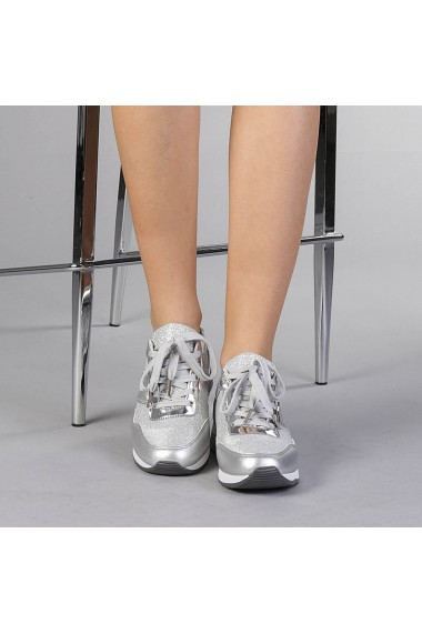Pantofi sport dama Jane argintii