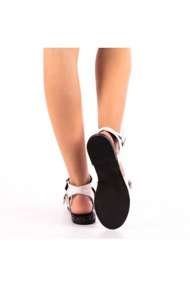 Sandale dama Ica albe