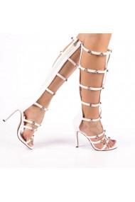 Sandale dama Dora albe