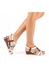 Sandale dama cu platforma Cadis albe